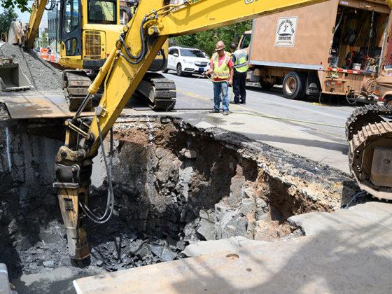 Union City Manhole & Conduit 1