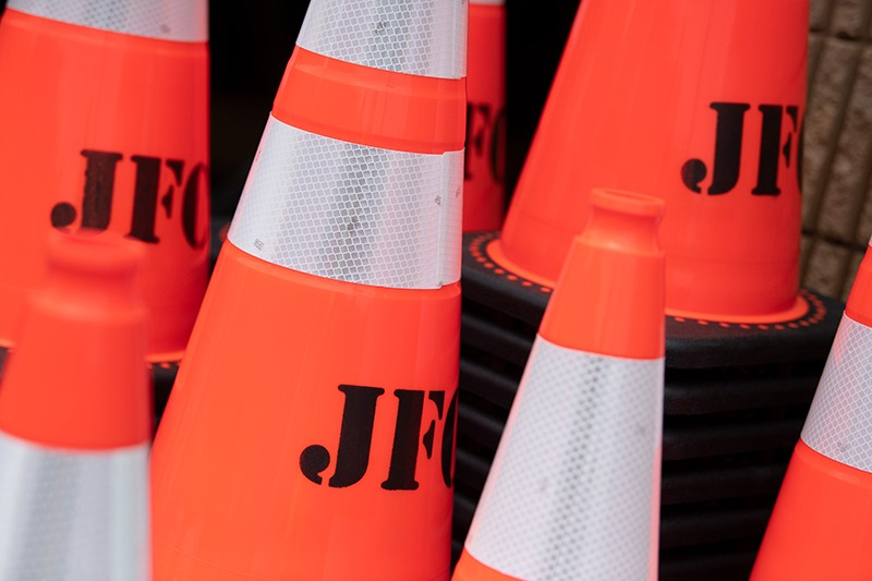 construction emergency cones