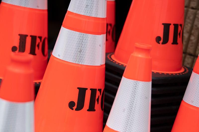 construction emergency cones