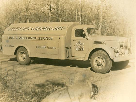 J. Fletcher Creamer & Son, Inc. fuel truck circa 1940s