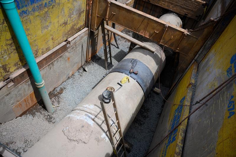 Utility pipe at J. Fletcher Creamer