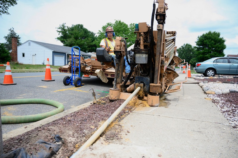 Utility backhoe at J. Fletcher Creamer